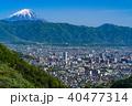 《山梨県》富士山と甲府盆地 40477314