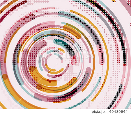 Circular lines, circles, geometric abstract background 40480644