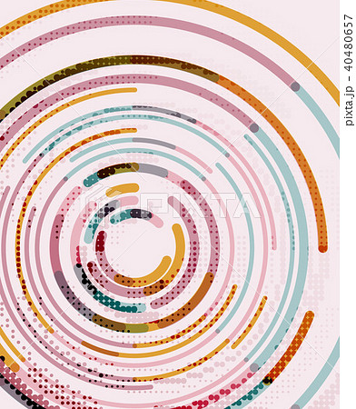 Circular lines, circles, geometric abstract background 40480657