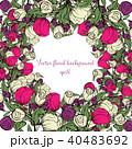 背景 フローラル 花のイラスト 40483692