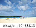 ビーチ 海 砂浜の写真 40483813