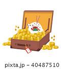2019年 初売り素材 沢山の金貨 イラスト 40487510