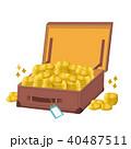 トランク 沢山の金貨 イラスト 40487511