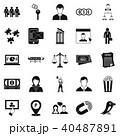 アイコン セット 組み合わせのイラスト 40487891