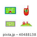 GPS アイコン セットのイラスト 40488138