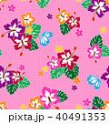 植物 花 ハイビスカスのイラスト 40491353