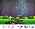ロード 嵐 暴風雨のイラスト 40492418