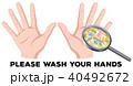 手 洗う イラストのイラスト 40492672