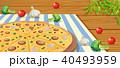 ペパロニ ピザ ピッツァのイラスト 40493959