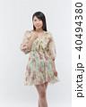 女性 若い ファッションの写真 40494380