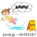 ウェット フロア フロアーのイラスト 40495267