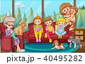 ファミリー 家庭 家族のイラスト 40495282