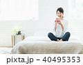 スマートフォン 若い 女性の写真 40495353