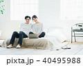 夫婦 寝室 ベッドの写真 40495988