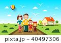 ファミリー 家庭 家族のイラスト 40497306