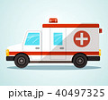 Ambulance Car. Flat Design Vector Illustration. 40497325