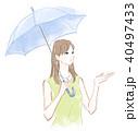 傘を差す女性 40497433