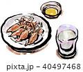 ホタルイカ イカ 食べ物のイラスト 40497468