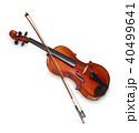 ヴァイオリンと弓 40499641