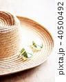 麦わら帽子とサングラス 40500492