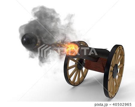 ramadan cannons shot moment. 3d illustration 40502965