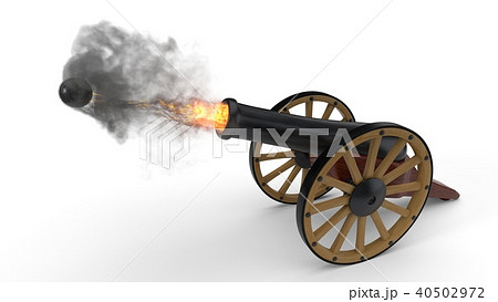 ramadan cannons shot moment. 3d illustration 40502972