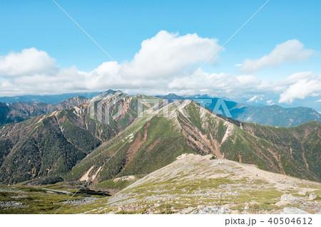 常念岳山頂からの眺め 40504612