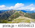 常念岳 山頂 秋の写真 40504613