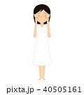 女性 若い 看護師のイラスト 40505161