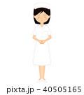 お詫びをする若い女性看護師のお辞儀イラスト素材 40505165