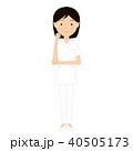 女性 若い 看護師のイラスト 40505173