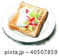 トースト 食べ物 おやつのイラスト 40507859