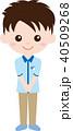 人物 男性 制服のイラスト 40509268