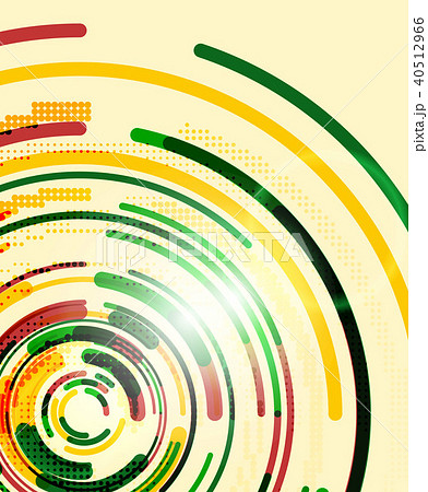 Circular lines, circles, geometric abstract background 40512966