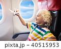 子 子供 飛行機の写真 40515953