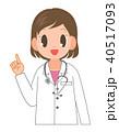 指差し 女性 笑顔のイラスト 40517093