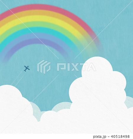 背景-夏-雲-虹 40518498
