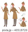 探偵 イラスト 若い女性 セット 40519720