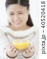 グレープフルーツを持つ日本人女性 40520418