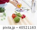 キッチン シンク 洗うの写真 40521163