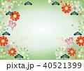 和背景-花と蝶(よこ2)テクスチャ 40521399