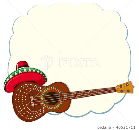 mexican style classical guitar templateのイラスト素材 40521711 pixta