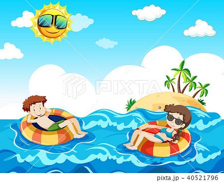 A Couple Taking Honeymoon at the Beach 40521796