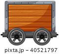 木製 木造 カートのイラスト 40521797