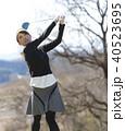 人物 女性 ゴルフの写真 40523695