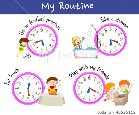 Children and routine in a day 40525118