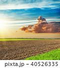 くも 雲 畑地の写真 40526335