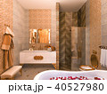 3d illustration of an interior design of a bathroom in a classic style 40527980