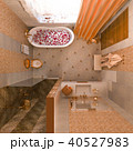 3d illustration of an interior design of a bathroom in a classic 40527983