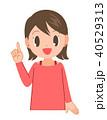 指差し 笑顔 女性のイラスト 40529313